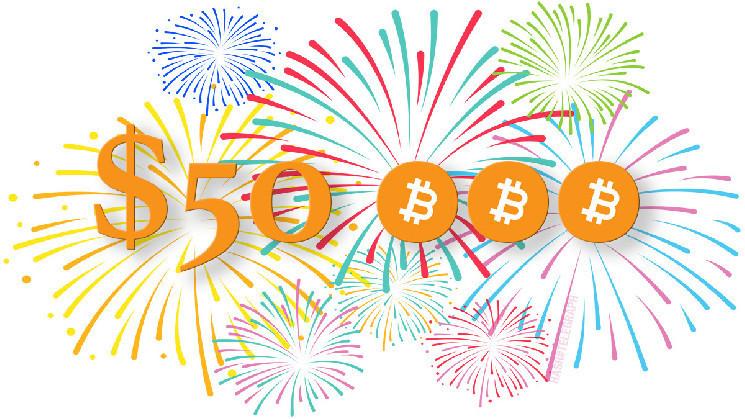 Биткоин поднялся выше $50000 — рынок охватила жадность