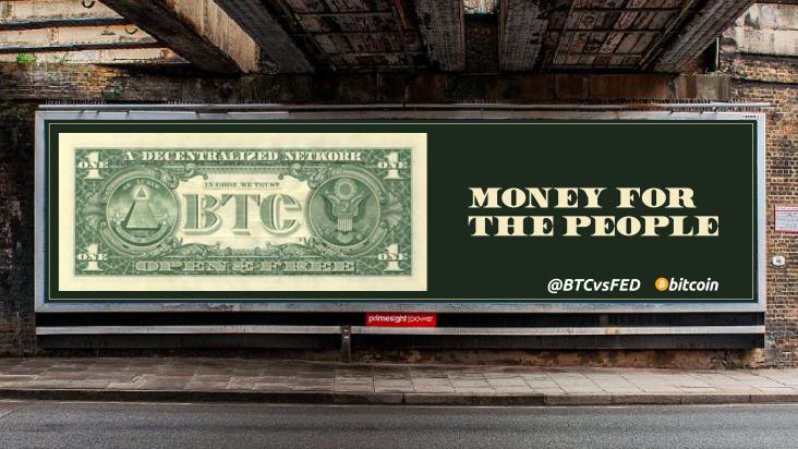 Bitcoin spaluje dolar v uměleckém díle pro rozšířenou realitu, video v článku